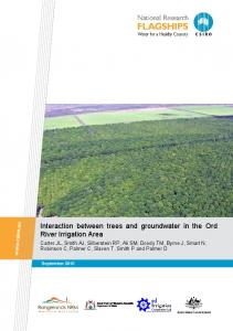 Interaction between trees and groundwater in the ... - Land and Water