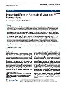 Interaction Effects in Assembly of Magnetic Nanoparticles