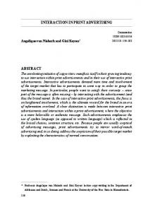 Interaction in Print Advertising (PDF Download Available)