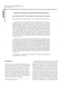 Interaction of Anionic Azo Dye and TTAB-Cationic Surfactant