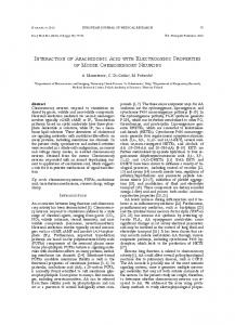 INtERACtION OF ARACHIDONIC ACID wItH ... - Springer Link