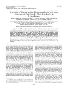 Interaction of Brucella abortus Lipopolysaccharide with Major ...