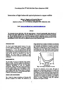 Interaction of light holes with optical photons in ...