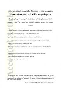 Interaction of magnetic flux ropes via magnetic ... - Wiley Online Library