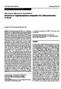 Interaction of organophosphorus compounds with ... - Springer Link