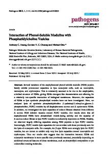 Interaction of Phenol-Soluble Modulins with