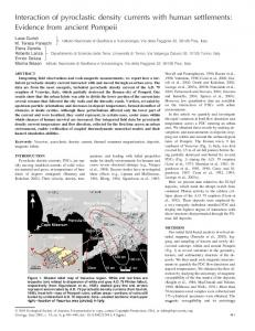 Interaction of pyroclastic density currents with ... - GeoScienceWorld