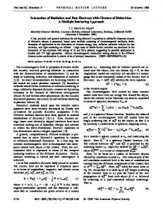 Interaction of Radiation and Fast Electrons with Clusters of ... - Core