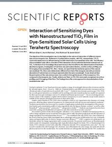 Interaction of Sensitizing Dyes with Nanostructured TiO2 Film in Dye ...