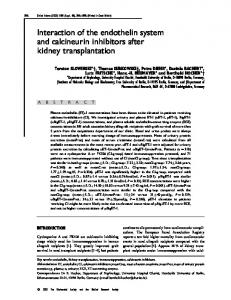 Interaction of the endothelin system and calcineurin ... - Clinical Science