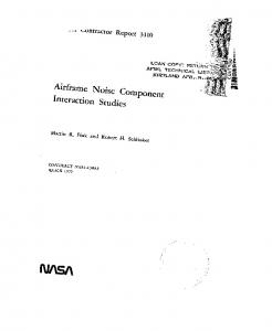 Interaction Studies - NASA Technical Reports Server (NTRS)