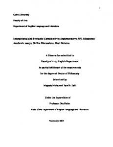 Interactional and Syntactic Complexity in ...