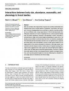 Interactions between body size, abundance ... - Wiley Online Library