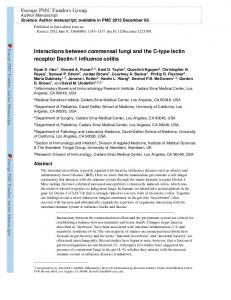 Interactions between commensal fungi and the C-type ... - CiteSeerX