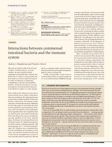 Interactions between commensal intestinal bacteria and the immune ...