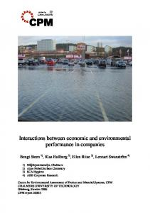 Interactions between economic and environmental performance in