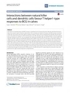Interactions between natural killer cells and dendritic cells favour T ...
