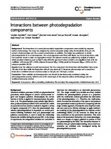 Interactions between photodegradation components - Springer Link