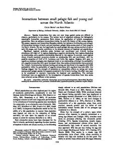 Interactions between small pelagic fish and ... - Wiley Online Library
