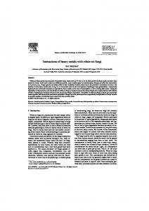 Interactions of heavy metals with white-rot fungi