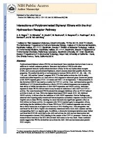 Interactions of Polybrominated Diphenyl Ethers with the Aryl ...