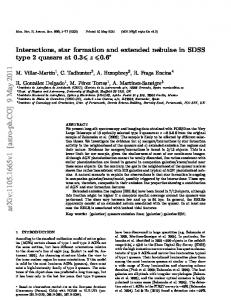 Interactions, star formation and extended nebulae in SDSS type 2 ...