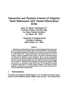 Interactive and Dynamic Control of Adaptive Mesh