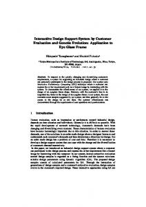 Interactive Design Support System by Customer ... - CiteSeerX