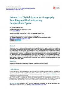 Interactive Digital Games for Geography Teaching and Understanding