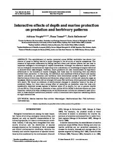 Interactive effects of depth and marine protection on predation and ...