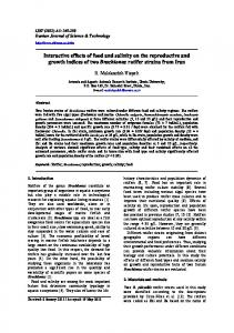 Interactive effects of food and salinity on the ... - Semantic Scholar