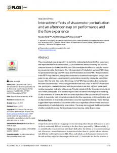 Interactive effects of visuomotor perturbation and an afternoon ... - PLOS