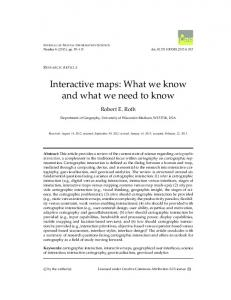 Interactive maps: What we know and what we ... - Semantic Scholar