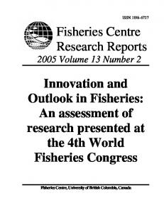 Interactive Mechanisms for Small-Scale Fisheries ... - Sea Around Us