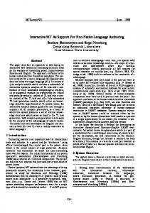 Interactive MT as support for non-native language ... - MT Archive