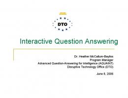 Interactive Question Answering