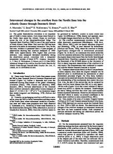 Interannual changes in the overflow from the Nordic Seas into ... - ePIC