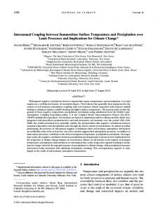 Interannual Coupling between Summertime Surface Temperature and ...