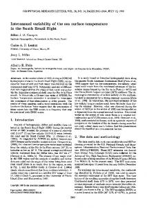 Interannual variability of the sea surface ... - Wiley Online Library