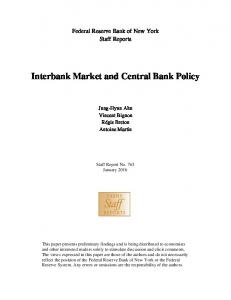 Interbank Market and Central Bank Policy - Federal Reserve Bank of ...