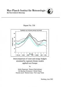 Intercomparison of water and energy budgets ... - epub @ SUB HH