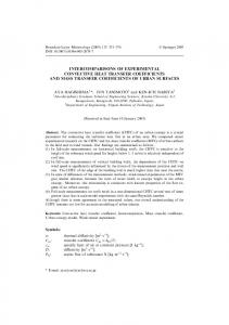Intercomparisons of Experimental Convective Heat Transfer ...