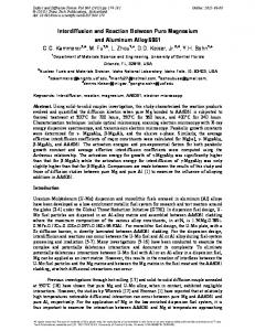 Interdiffusion and Reaction Between Pure Magnesium ...