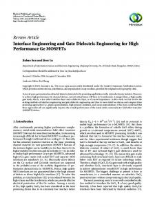 Interface Engineering and Gate Dielectric Engineering for High ...