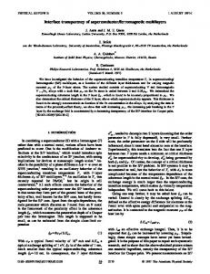 Interface transparency of superconductor ... - APS link manager
