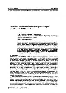 Interfacial failure under thermal fatigue loading in