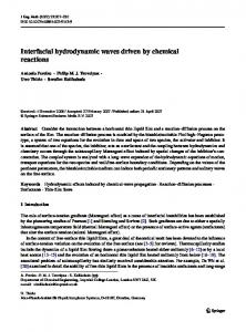Interfacial hydrodynamic waves driven by chemical reactions