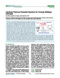 Interfacial Thiol-ene Photoclick Reactions for Forming Multilayer ...
