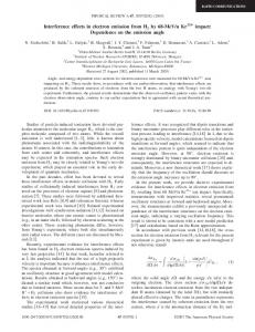 Interference effects in electron emission from H 2 by 68-MeV/u Kr 3 3+ ...