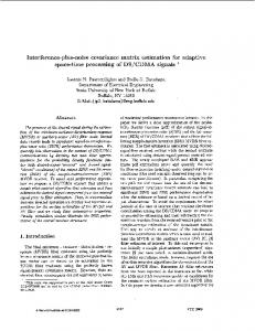 Interference-plus-noise covariance matrix estimation for adaptive ...
